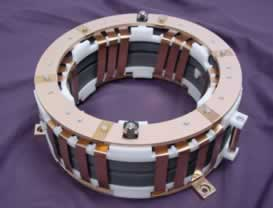 Magnetic ribbon air coil inductor